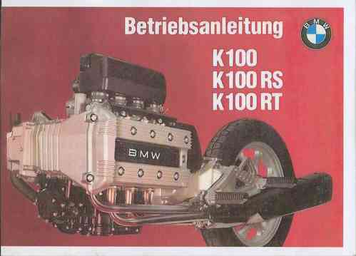 Betriebsanleitung BMW K 100 / K 100 RS / K 100 RT - Oldtimer Buchhandel