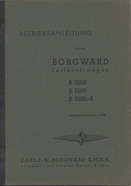 Betriebsanleitung Borgward Lastkraftwagen - Oldtimer Buchhandel