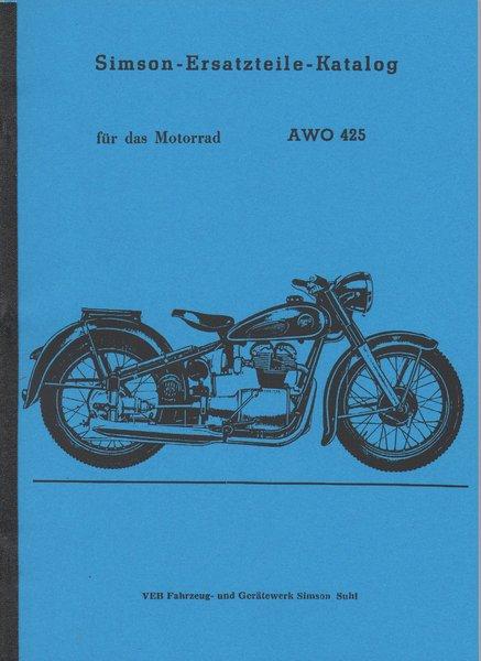ersatzteile katalog f r das motorrad awo 425 oldtimer. Black Bedroom Furniture Sets. Home Design Ideas