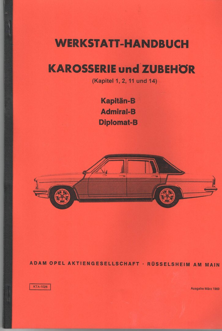 werkstatt handbuch opel kapit n b admiral b diplomat b oldtimer buchhandel. Black Bedroom Furniture Sets. Home Design Ideas