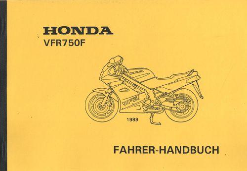 Bedienungsanleitung Honda VFR 750 F - Oldtimer Buchhandel